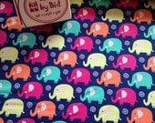 Michael Miller 'Mini Elephants' Navy 100% cotton fabric