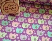 Michael Miller 'Mini Elephants' Lilac 100% cotton fabric