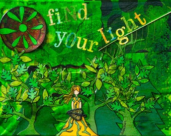 """Find Your Light Glicee Print 8"""" x 10"""""""