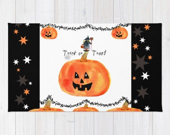Rug, Trick or Treat Pumpkin and Witch rug