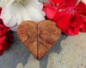 Anniversary Gift Heart Live Edge Twisting Wooden Burl