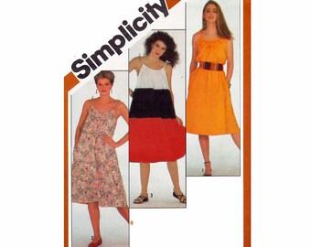 Sundress Pullover Loose Muu-Muu Tiered Dress Size Med. 14-16 Bust 36-38 & Lrg. 18-20 Bust 40-42 Simplicity 5536 80s UNCUT sewing pattern