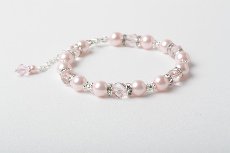 rose bracelet demoiselle d 39 honneur bracelet de mari e. Black Bedroom Furniture Sets. Home Design Ideas