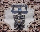 Rhinestone Marcasite Amazing Vintage Brooch