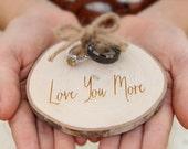 Maple Slice Ring Holder Rustic Wood Ring Holder Ring Bearer Pillow Alternative