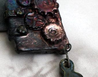 Raku Clockwork Door Pendant