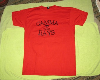 GAMMA RAYS Gamma Gamma Hey vintage t shirt red 50 50 large