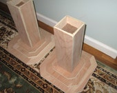 Furniture Risers, 12 Inch All Wood Construction, Unfinished New Design - Raise Furniture, Create Storage Space, Bed Table Desk +
