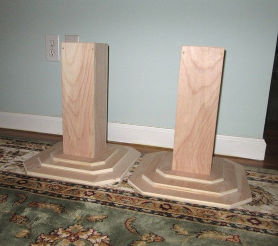 Dorm Room Bed Risers, 14 Inch All Wood Construction, Unfinished Square  Design - Raise