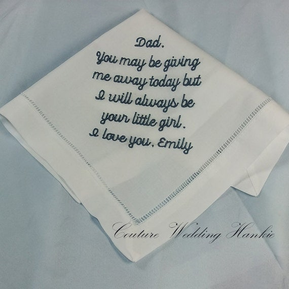 the Bride Gift Wedding Handkerchief Perfect Wedding Gift from Daughter ...