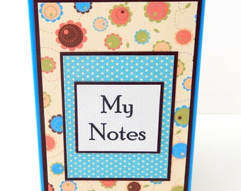 Floral:  Mini Spiral Memo Pad- 3 x 5 inches