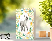 Cute Goat - Blank C6 Greeting Card - Original illustration with Original Pattern Design