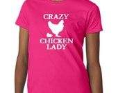 Women's Crazy Chicken Lady T-Shirt