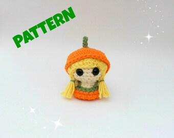 Crochet Doll Pattern / Pumpkin Pattern / Amigurumi Doll Pattern / Halloween Pattern / Crochet Amigurumi Pattern / Crochet Halloween