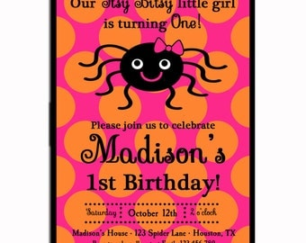 Halloween Party Invitation Printable or Printed with FREE SHIPPING - Halloween Party, Birthday, Fall Event - Halloween Witch Collection