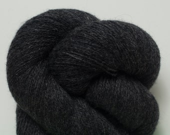 Charcoal Gray Recycled Lace Weight Cashmere Yarn, 2655 Yards Available