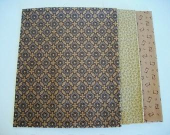 Fat Quarter Fabrics Bundle, 3 Marcus Fabric, Molly B's Fabric, Olive, Quilting Sewing Fabric, Choice Fabrics