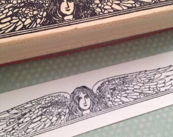 Angel Header Rubber Stamp 4737
