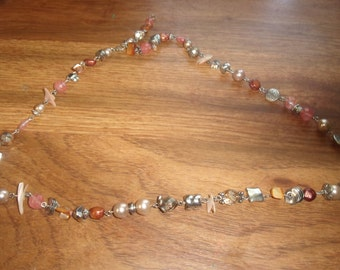 vintage necklace colorful glass beads