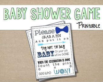 """Baby Shower Game {Printable} """"My Water Broke""""- Ice Game"""