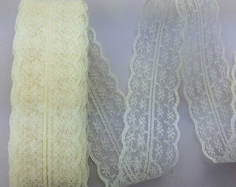 "Cream Lace Trim-40mm-1.57""-3 YDS"