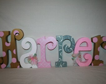 Gold nursery decor 15.00 per letter Metallic gold nursery letters Pink and Gold nursery decor Custom wood letters Gold baby name letters