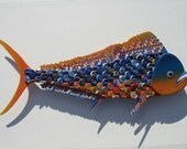 University of Florida Bottlecap Wall Art Metal Bottle Cap Dolphin Fish Mahi Mahi