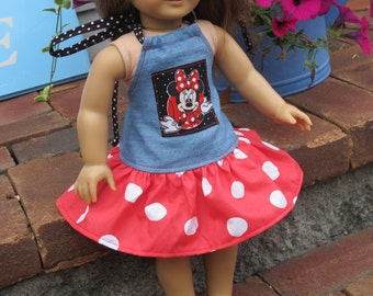 "American Girl, 18"" doll Minnie Mouse, Disney Dress - Bitty Baby"