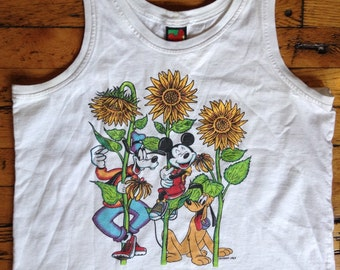 Vintage Disney Mickey Goofy tank top, W XL USA