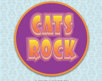 Cats Rock Sticker