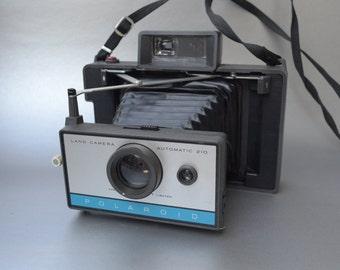 Wow -Vintage Polaroid Accordian Style Model 210 Land Camera