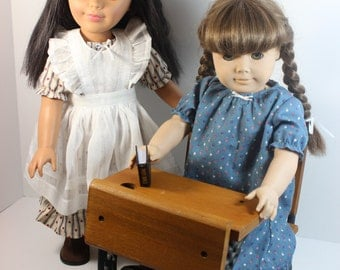 "18"" Doll Old Fashioned Pioneer Girl Dress with Pinafore Fits American Girl Sweet Outfit!"