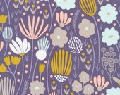 Morning Song Rich Meadow in Dusk, Elizabeth Olwen, 100% GOTS-Certified Organic Cotton, Cloud9 Fabrics, 129612