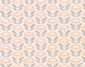 Morning Song Lazy Daisy in Peach, Elizabeth Olwen, 100% GOTS-Certified Organic Cotton, Cloud9 Fabrics, 130115