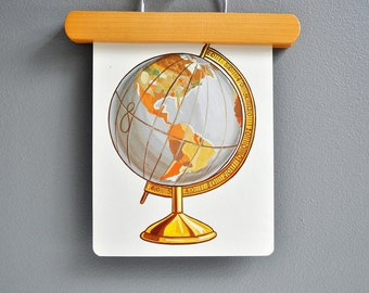 Over-Sized Mid-Century Globe Flash Card