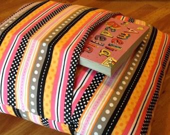 Pink and Orange Nursery Decorative Throw Pillow w Pocket 13x13