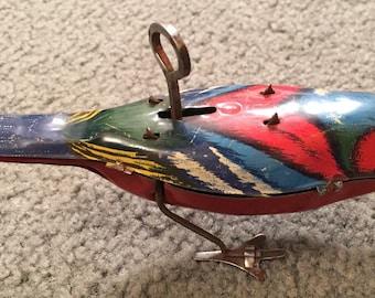 Vintage wind up bird toy