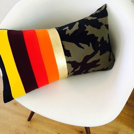 Modern Lumbar Pillow : Modern Striped Pillow Cover 14x24 Lumbar Cushion