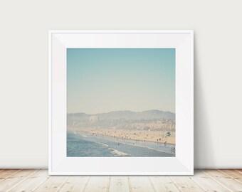 beach photograph santa monica photograph california photograph pacific ocean photograph california print travel photography