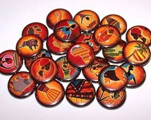 "Africa Theme Set of 10 Buttons 1"" or 1.5"" Pin Backs or 1"" Magnets African Pins"