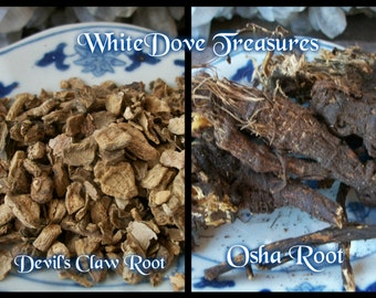 DEVIL'S CLAW Root or OSHA Organic 1oz Dried Herb Bear Medicine Bag Smudge Holistic Home Therapy Protection Purification Psychic Power Luck