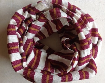 Burgundy and Caramel yellow woolen stripe scarf and wraps- woven mens fall winter stole wrap scarfs- womens woolen bugnady and caramel scarf