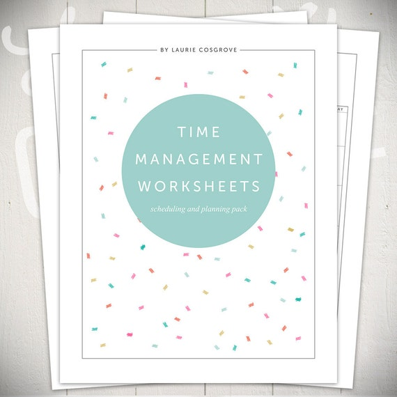 Time Management Worksheets 5 Printable Planners For Daily