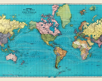 World Map - Print Poster -