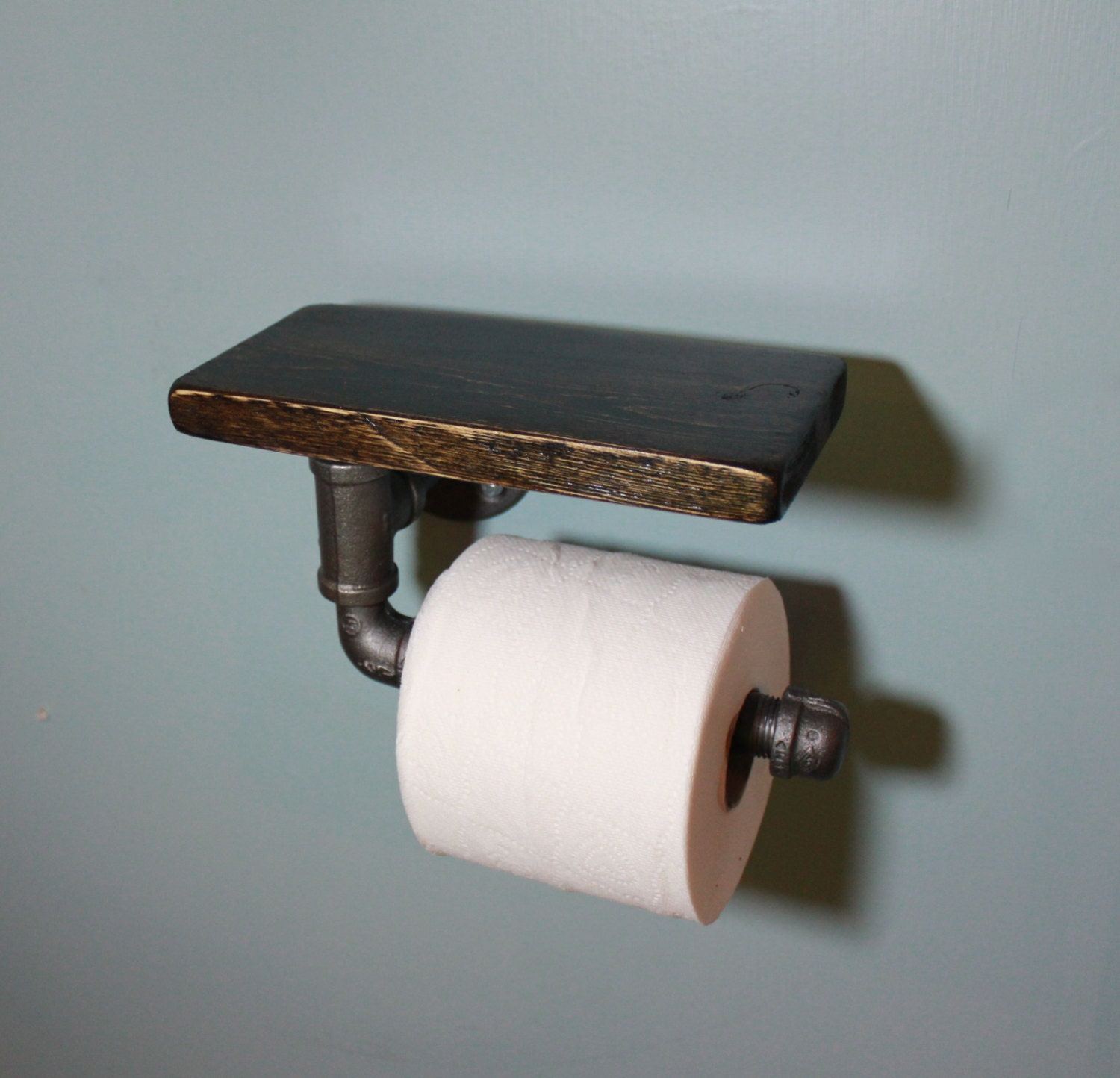 Industrial Iron Or Galvanized Pipe Toilet Paper Holder With