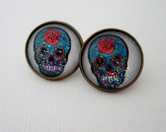 Day O' Dead Sugar Sugar Skull Earrings