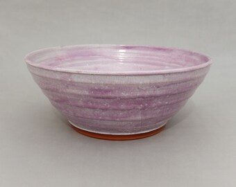 Purple Pottery Bowl -  Pottery Mixing/ Serving Bowl/ Salad/Fruit