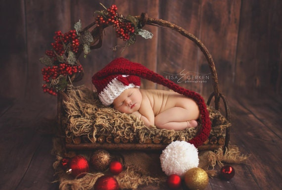 Newborn Santa Hat Newborn Christmas Hat Newborn Photo Prop