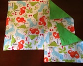 "Custom Listing--XLarge 12""x17""Place mat and 8""x8"" Napkin Set---You Pick The Fabric"