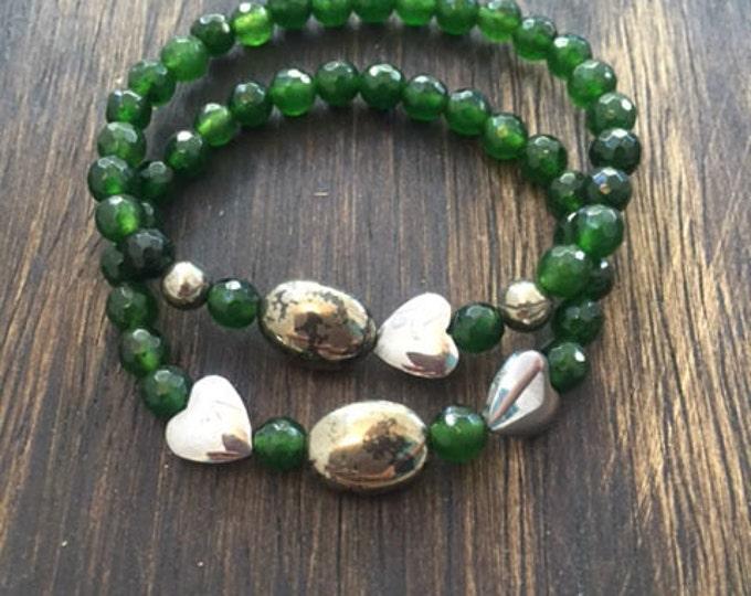 Forest Green Bracelet Set // Jewelry